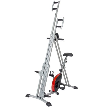 Best Choice Products 2 in 1 Total Body Vertical Climber Magnetic Exercise Bike Machine - (Best Lat Exercises At Home)
