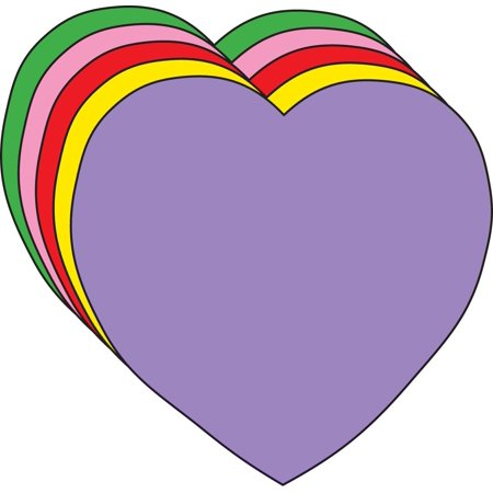 Large Assorted Color Creative Foam Cut-Outs - Heart