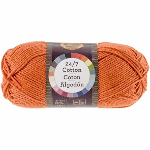 Lion Brand 761-133 24&7 Cotton Yarn - Tangerine