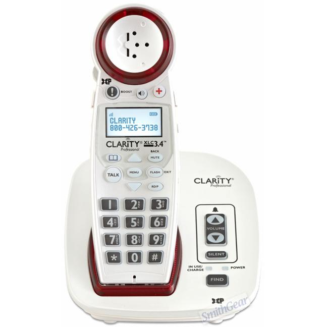 Clarity CLARITY-XLC3. 4 Extra Loud Cordless Phone Dect 50+ Db