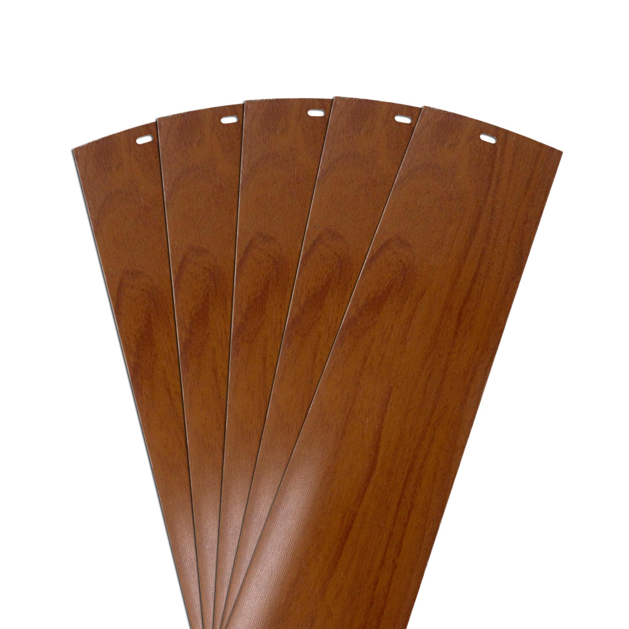 Dalix Wood Vinyl Vertical Blinds Parts Repair Set Walnut