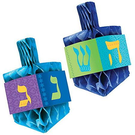 Amscan 2 Count Hanukkah Honeycomb Centerpiece Set, Multicolor