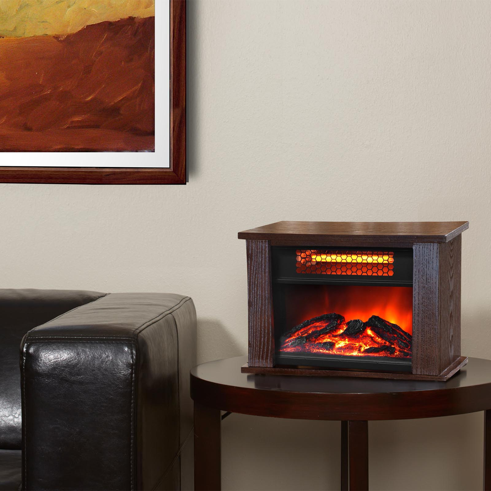 lifepro lifesmart 750 watt infrared quartz mini wood fireplace