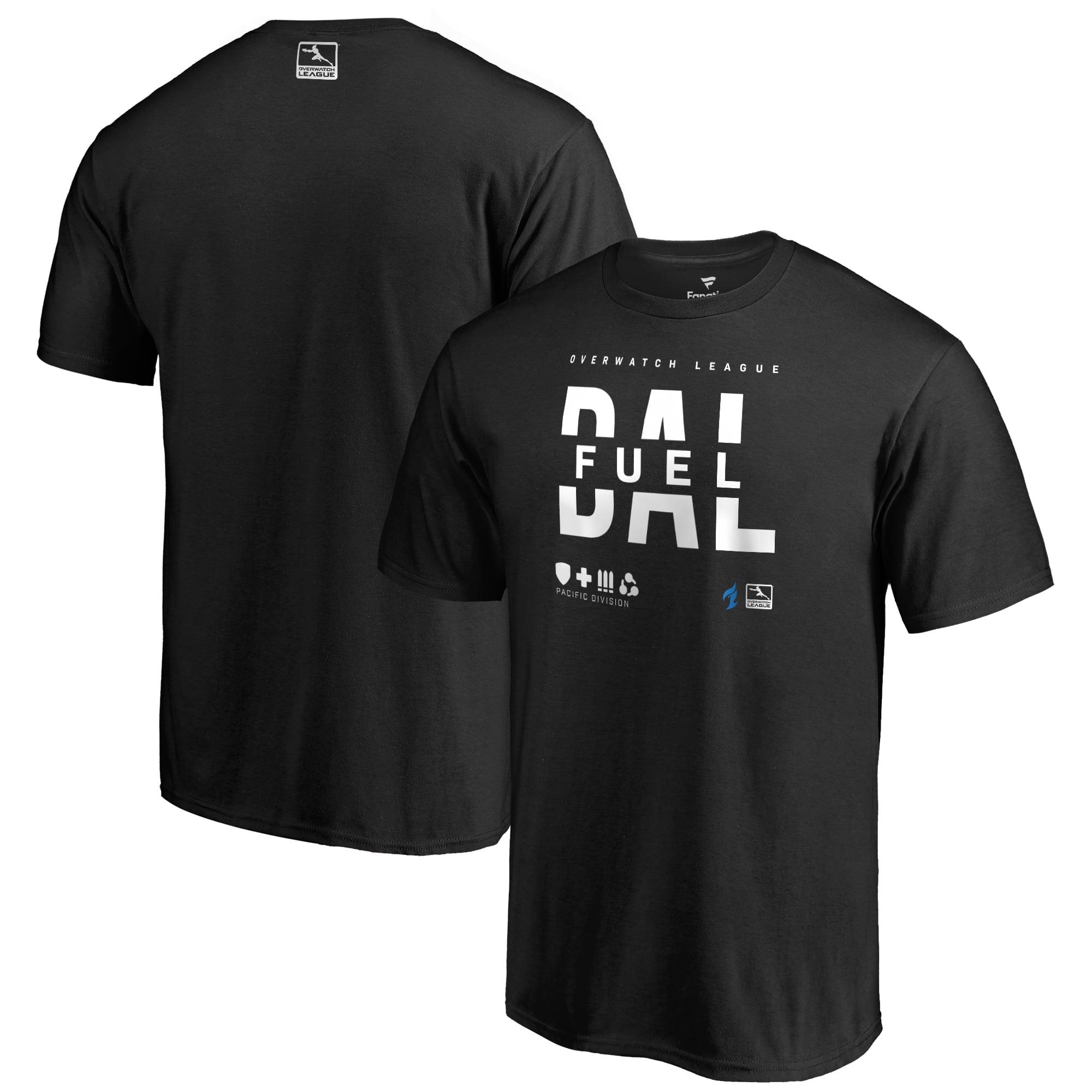 Dallas Fuel Fanatics Branded Overwatch League Splitter T-Shirt - Black