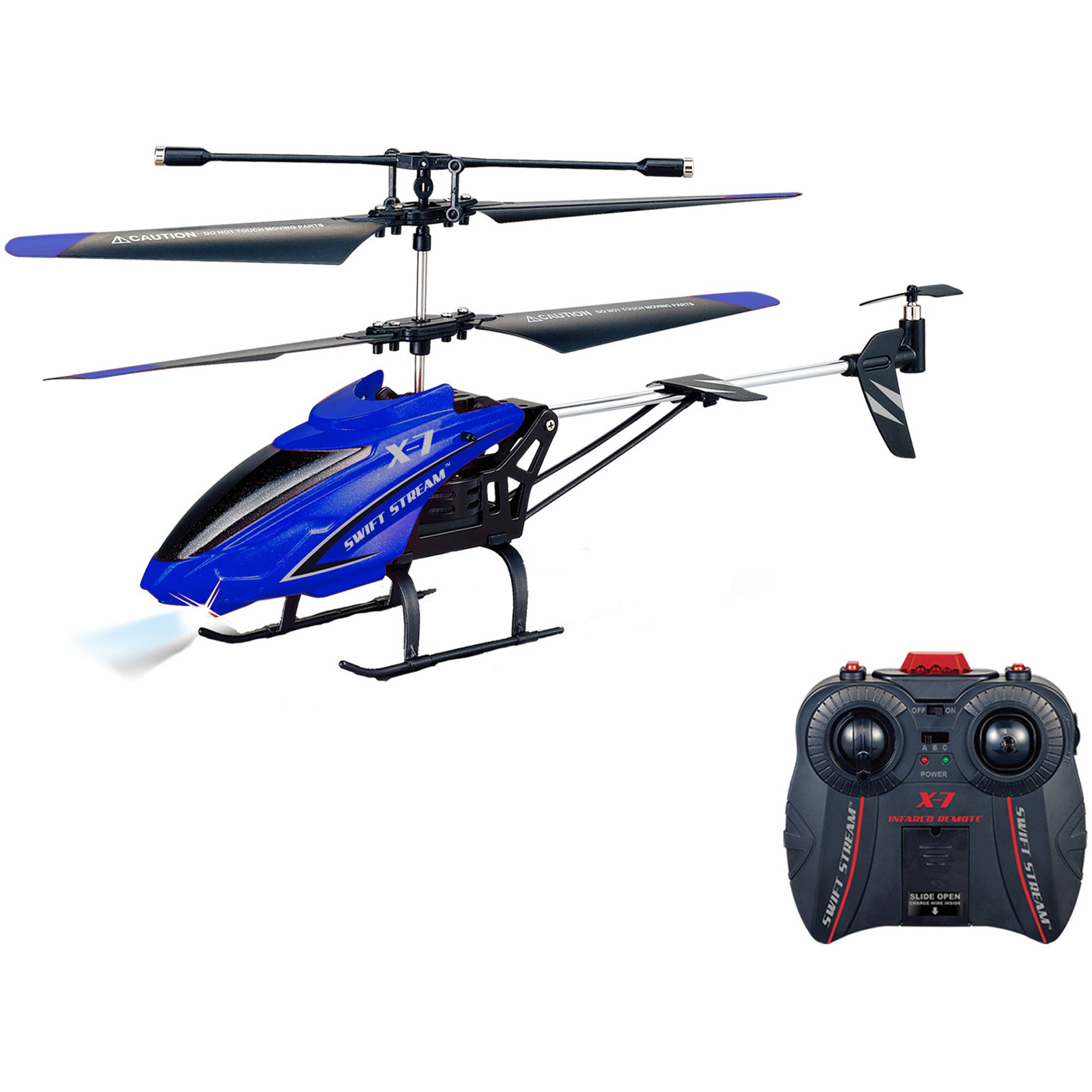 "Swift Stream X-7 Remote Control 9"" Helicopter, Blue"