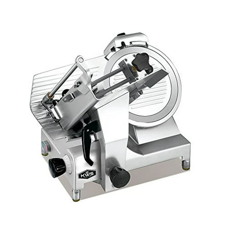 Kws Premium 450W Electric Meat Slicer 12   Stainless Steel Blade With Commercial Grade Carriage  Frozen Meat  Cheese  Food Slicer Low Noises