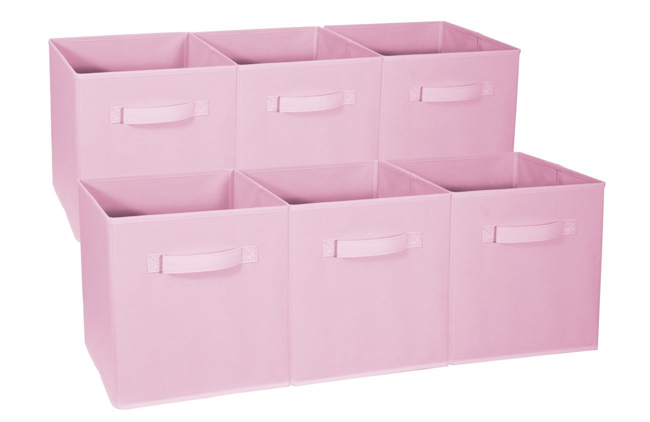 Superbe Yosoo 6 Pack Fabric Storage Bins For Nursery, Offices, U0026 Home Organization,  Containers Are Made To Fit Standard Cube Organizers