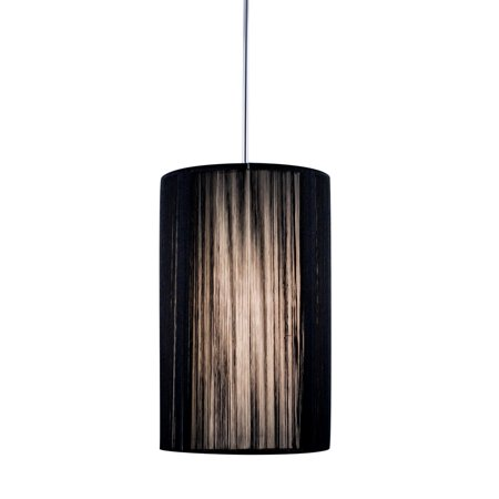 Monorail Fixture - Jesco Lighting QAP231-BK-CH 1-Light Monorail Quick Adapt Low Voltage Pendant, Black With Chrome