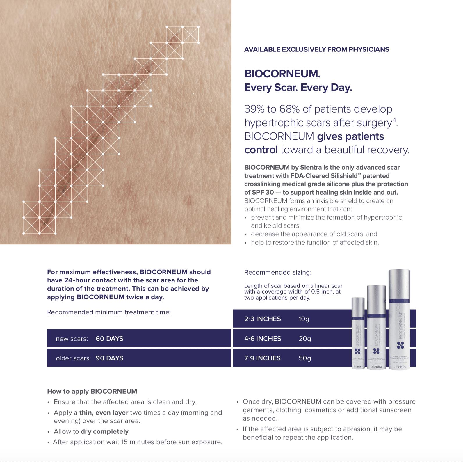 Biocorneum Advanced Scar Cream Treatment Gel 50gr 1 73 Oz