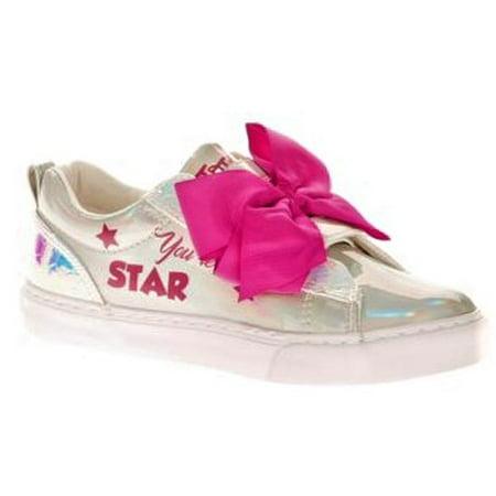Jojo Siwa Girl's Iridescent Low Top Casual Sneaker for $<!---->