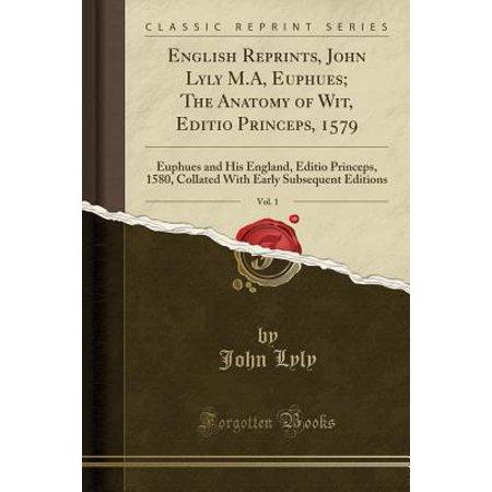 English Reprints John Lyly Ma Euphues The Anatomy Of Wit Editio