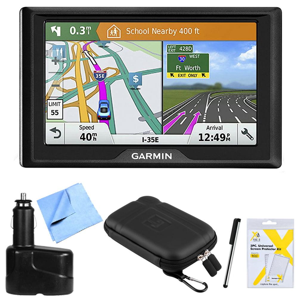 Garmin Drive 61 LM GPS Navigator with Driver Alerts USA with Memory Card Bundle