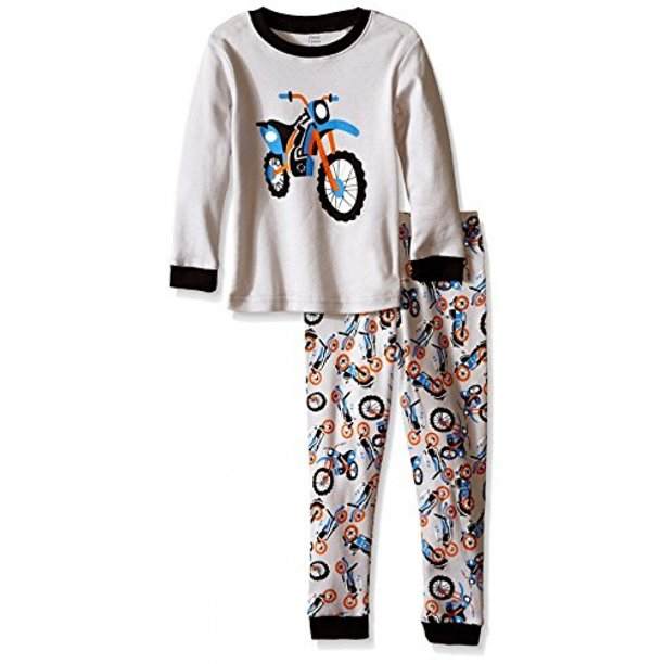 Elowel Boys' Kid's Motorcycle Pajama Set