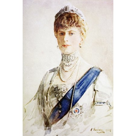 Mary Of Teck 1867 To 1953 Born Victoria Mary Augusta Louise Olga Pauline Claudine Agnes Queen Consort Of George V Of The United Kingdom After A Painting By John Lavery From King AlbertS Book (30 Seconds To Mars Queens And Kings)