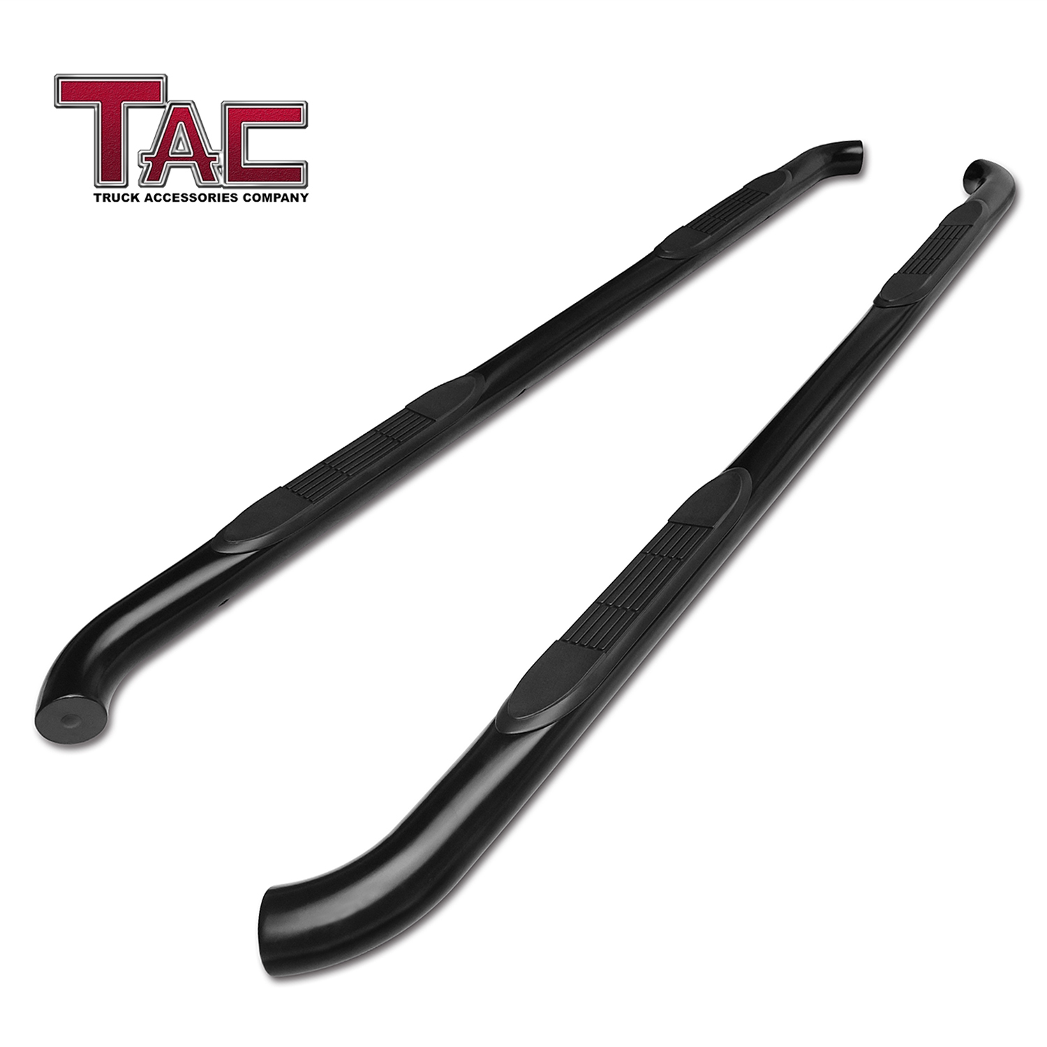 """TAC Side Step for 2005-2019 Nissan Frontier Crew Cab / 2005-2012 Suzuki Equator Crew Cab Truck Pickup 3"""" Black Nerf Bars Running Boards"""