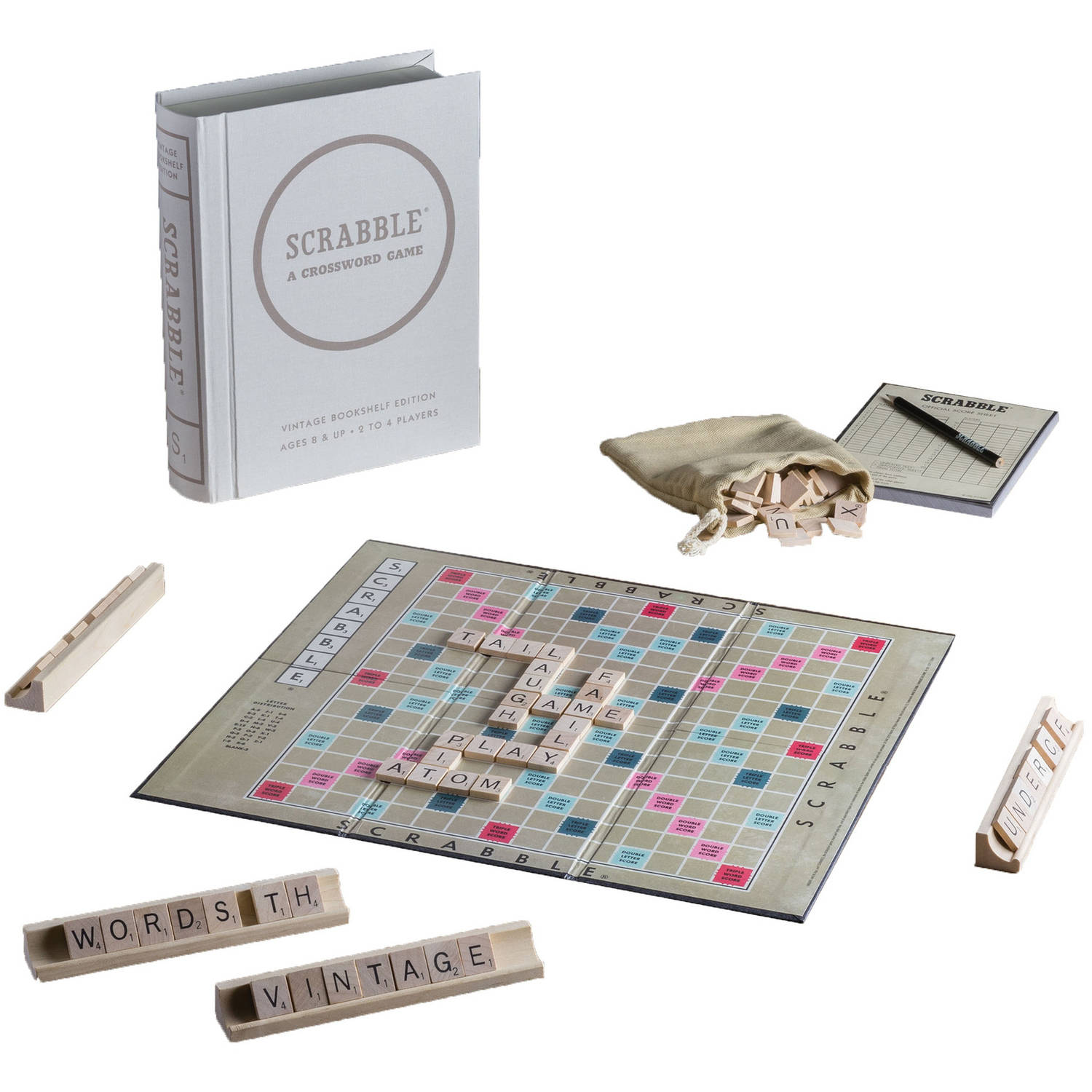 Scrabble Game Linen Book Vintage Edition by Winning Solutions