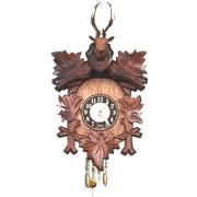 Alexander Taron 125-5 Wind up Carved Clock with Deer Head