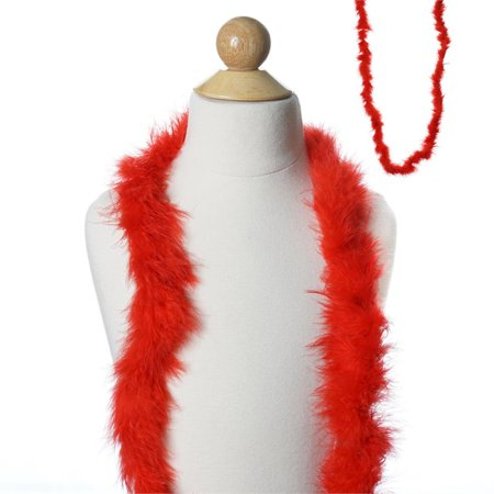 BalsaCircle 6 feet Ostrich Feathers Boa - Costumes Gifts Dress Up Kids Party Wedding Accessories](Red And Black Boa)