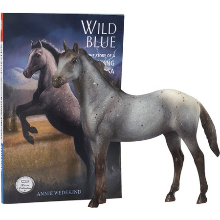Breyer Horse Figurine and Book Set, Wild Blue