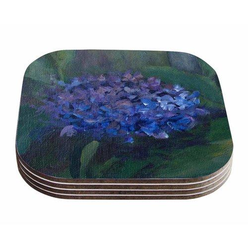 East Urban Home Cyndi Steen 'Hydrangea' Floral Coaster (Set of 4)