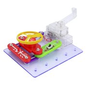2289 Children Hand Hold Generator Electronic Puzzles Kit DIY Blocks Discovery Kit Educational Assembling Toys for Kids