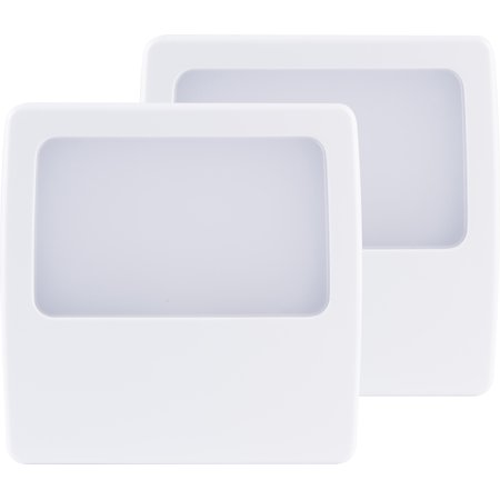 GE LED Plug-In Night Light, 2-Pack, Always On, Soft White Glow, 11311 ()