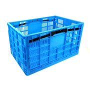 Garen Storage Crate Collapsible Heavy Duty Plastic Construction Strength 17 5 Gallon