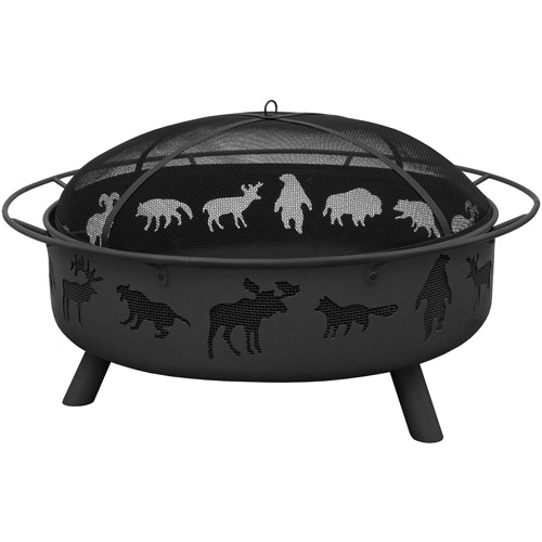 Landmann USA Super Sky Wildlife Fire Pit, Black