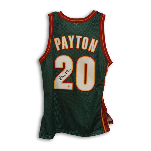NBA - Gary Payton Seattle Supersonics Autographed Authentic Champion Jersey