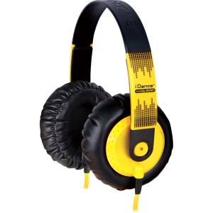 Yellow lifestyle headphones for MP3 players  iPods  & iPhones