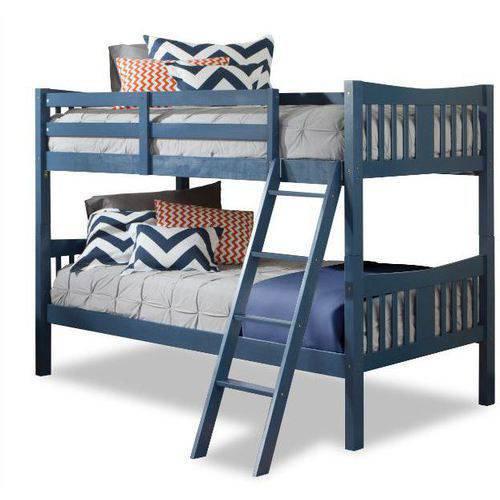 Storkcraft caribou solid hardwood twin bunk bed navy for Stork craft caribou bunk bed