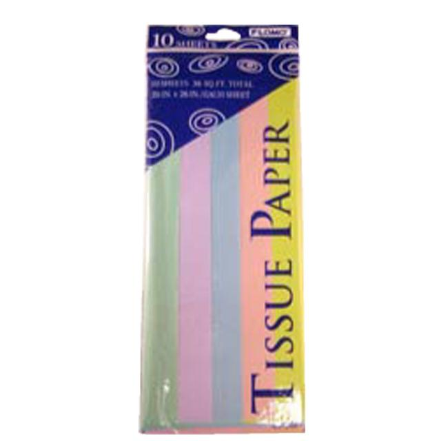 Pastel Multi-Colored Tissue,10 Sheets 849679, Case of 60
