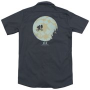 ET In The Moon (Back Print) Mens Work Shirt