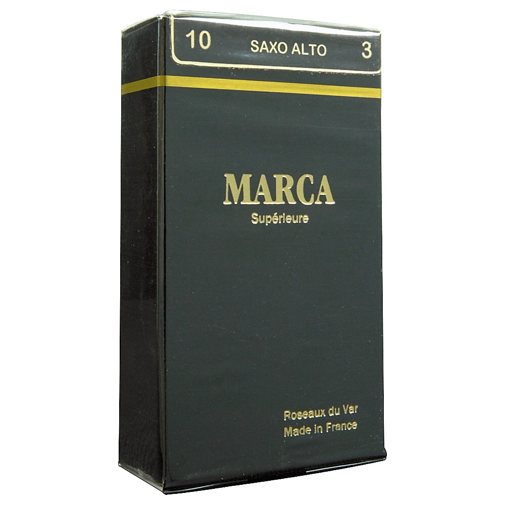 Marca Alto Sax Superieur Reeds Strength 2.5 Box of 10 by Marca