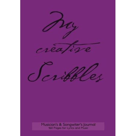 Musician's and Songwriter's Journal 160 Pages for Lyrics & Music: 7x10 Manuscript Notebook for Composition and Songwriting, Purple Cover, 160 Numbered