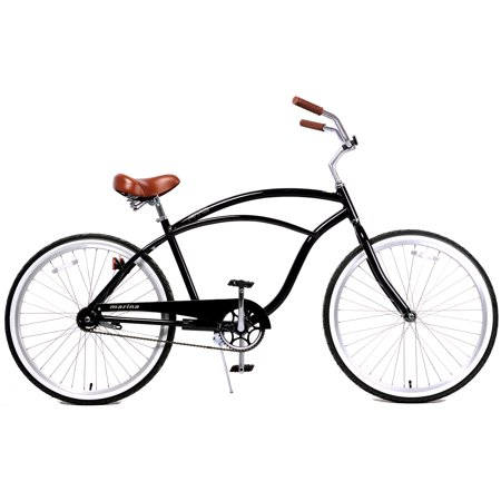 Fito Marina Aluminum Alloy 1-speed beach cruiser bike for men – Glossy Black