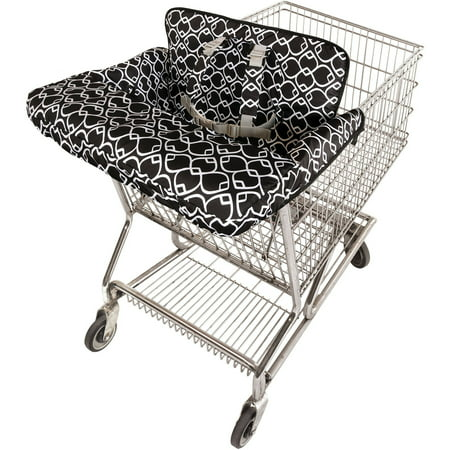 On the Goldbug 2-in-1 Shopping Cart and High Chair Cover, Black Surround your little shopper in comfort and style with our perfectly padded cart cover. It's loaded with great features like machine washable fabric, an adjustable shoulder harness, and a modern, full-coverage design that's also great for restaurant high chairs.