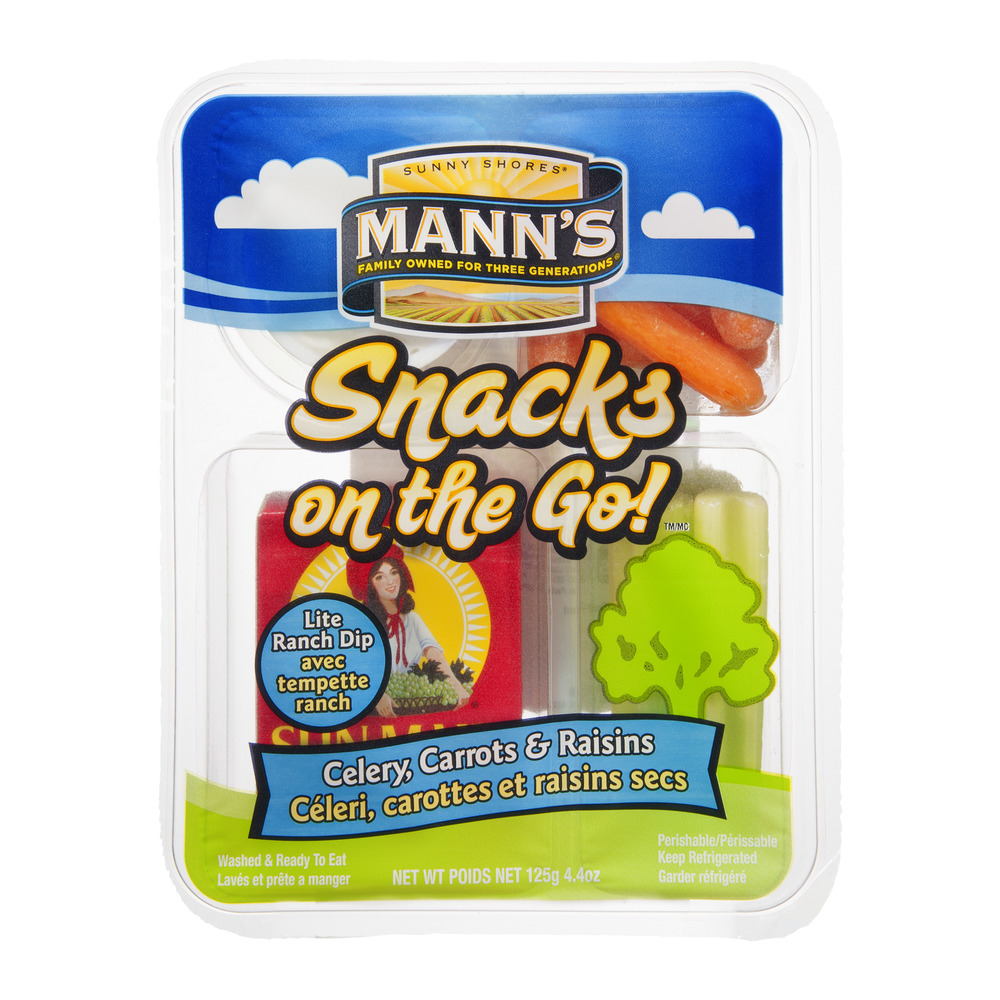 Manns Packing Manns Snacks on the Go! Celery, Carrots & Raisins, 4.4 oz