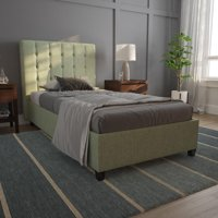 DHP Emily Linen Upholstered Bed, Multiple Colors and Sizes