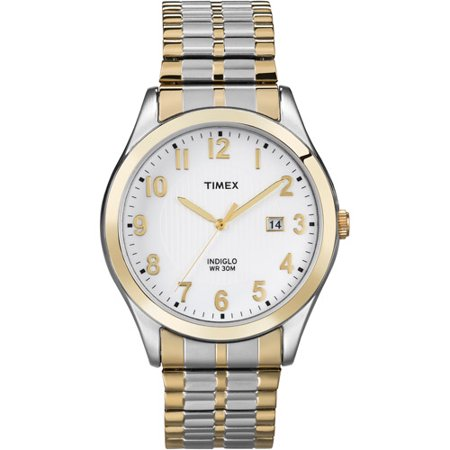 Timex Mens Woodcrest Drive Watch, Two-Tone Stainless Steel Expansion Band