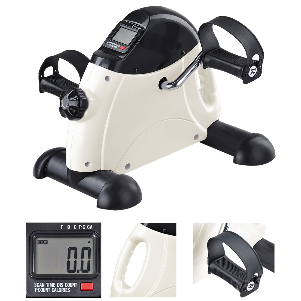 Portable Mini Pedal Exerciser Fitness Exercise Bike Cycle Arm Leg LCD Display Home office Under Desk
