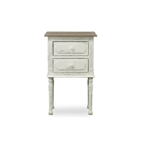 Baxton Studio Anjou Traditional French Accent Nightstand Bedroom French Country Nightstand