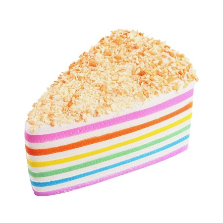 Squishy Rainbow Cake Bread Phone Straps Slow Rising Bun Charms Gifts Toys Co