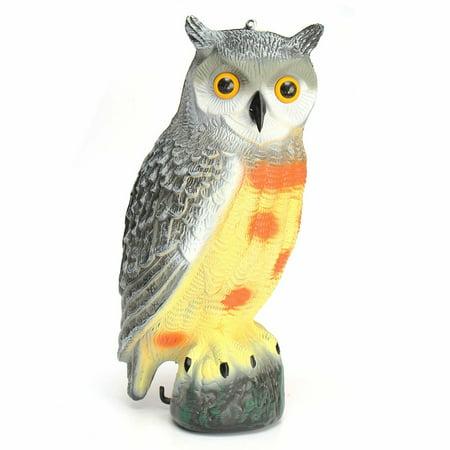 realistic owl decoy weed pest bird control christmas decor gift costume home garden crow scarer scarecrow - Outdoor Owl Christmas Decorations