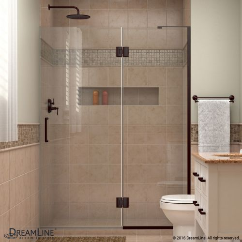 "DreamLine D32872 Unidoor-X 72"" High x 52"" Wide Hinged Frameless Shower Enclosure"