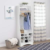 Prepac Prepac White Compact Wardrobe with Shoe Storage