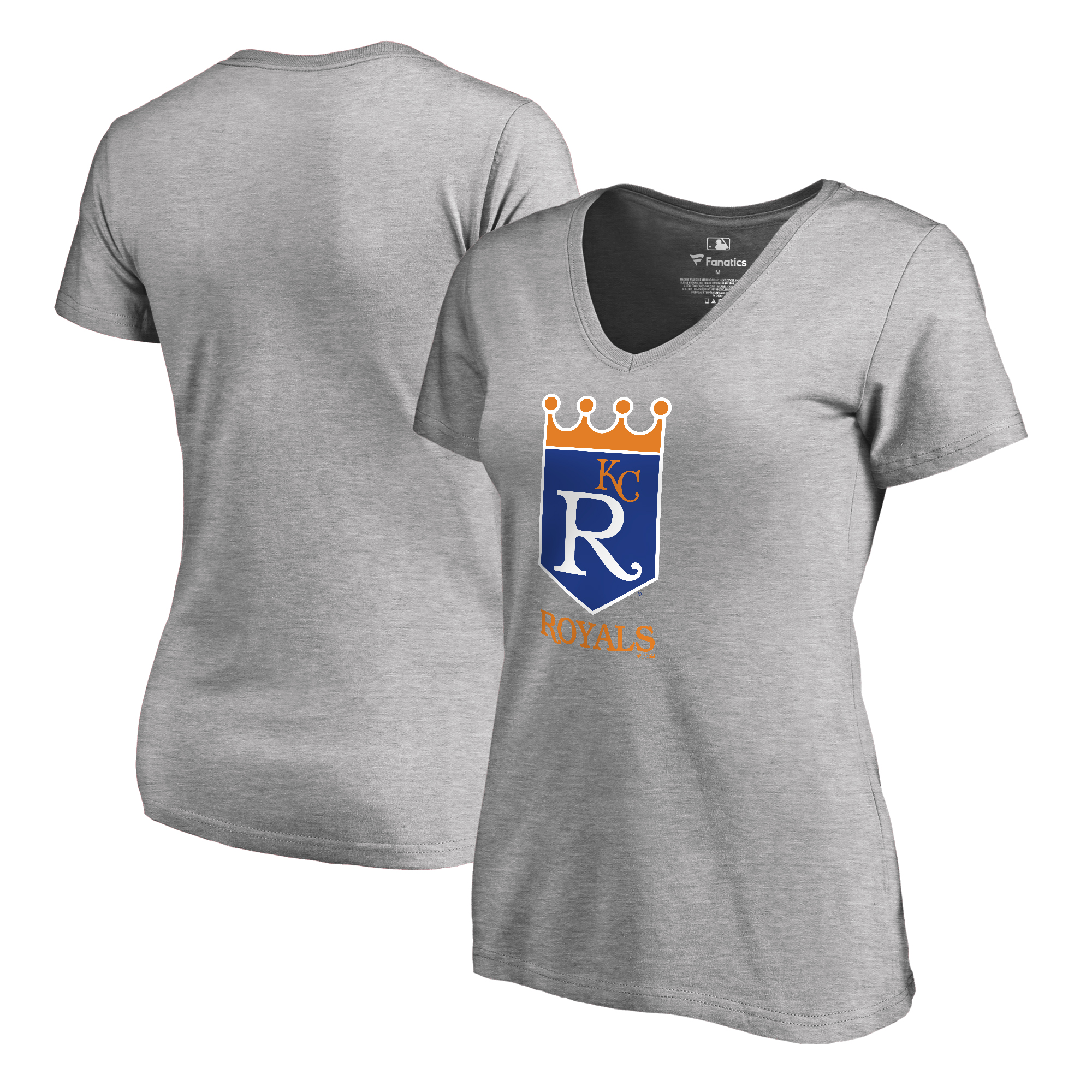 Kansas City Royals Fanatics Branded Women's Cooperstown Collection Forbes T-Shirt - Ash