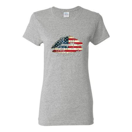 I'm An American Girl Flag Clothing Womens Top T-Shirt