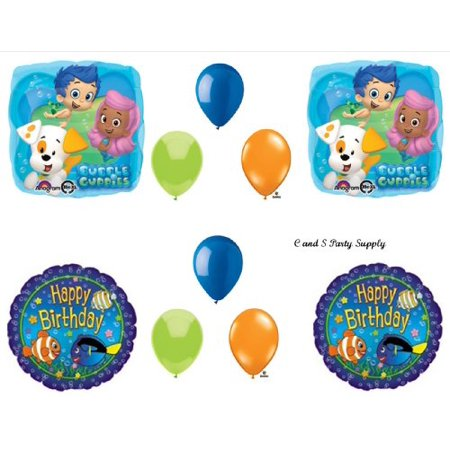 Bubble Guppies Fish 10 PIECE Birthday Party Balloons Decorations Supplies NEW!](Bubble Guppie Balloons)
