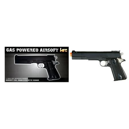 Extended Gas Pistol - *250 FPS* HG-124B GAS POWERED PISTOL (BLACK)
